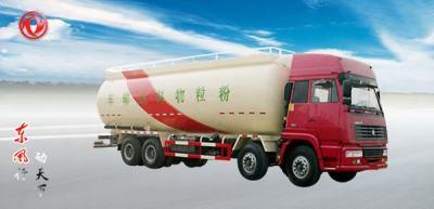 东风斯太尔四轴粉粒物料运输车高清图 - 外观