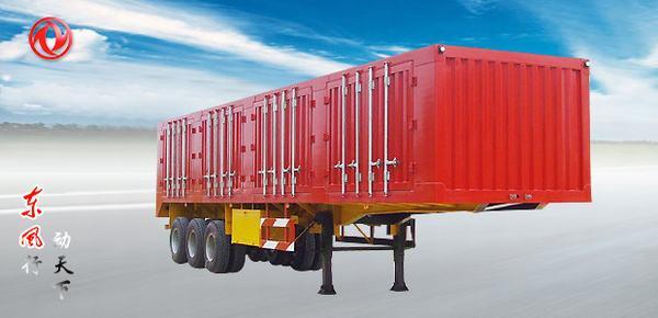 东风门杠式厢式运输半挂车高清图 - 外观