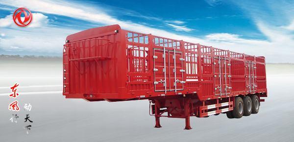 东风门杠式仓栅式运输半挂车高清图 - 外观