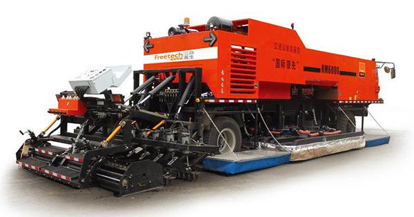 英达科技RM6000沥青路面就地热再生车高清图 - 外观