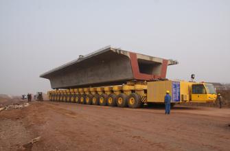 华中建机HZY900运梁车高清图 - 外观