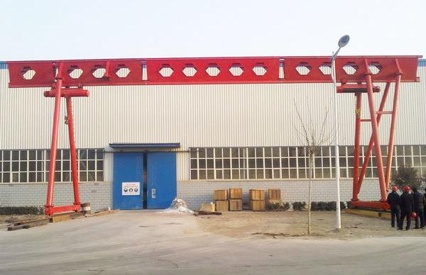 华中建机MH系列电动单梁葫芦龙门吊高清图 - 外观