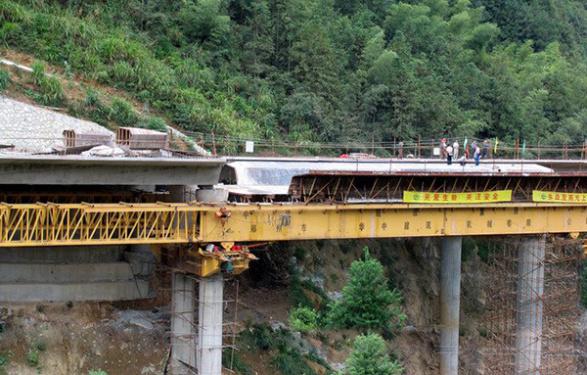 華中建機MSS650下行式移動模架造橋機