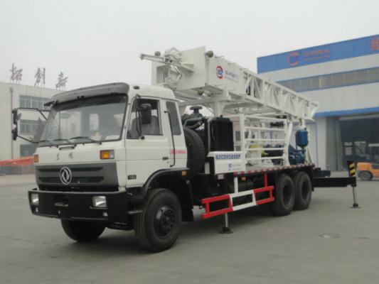 滨州钻机BZCDF200DF车载式反循环动力头钻机