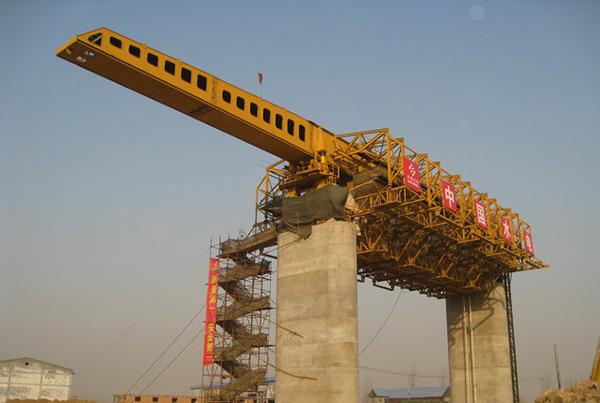 华中建机MZS系列上行式移动模架造桥机高清图 - 外观