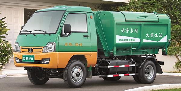 奥驰汽车奥驰车箱可卸式垃圾车高清图 - 外观