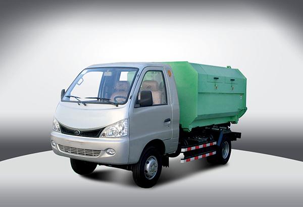 黑豹汽车钩臂式垃圾运输车高清图 - 外观
