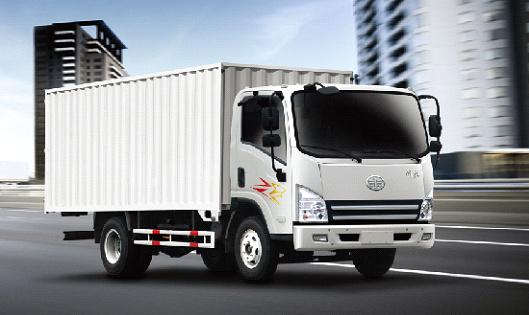 青岛解放虎V4×2大柴CA4DC2—1 2E3厢式车
