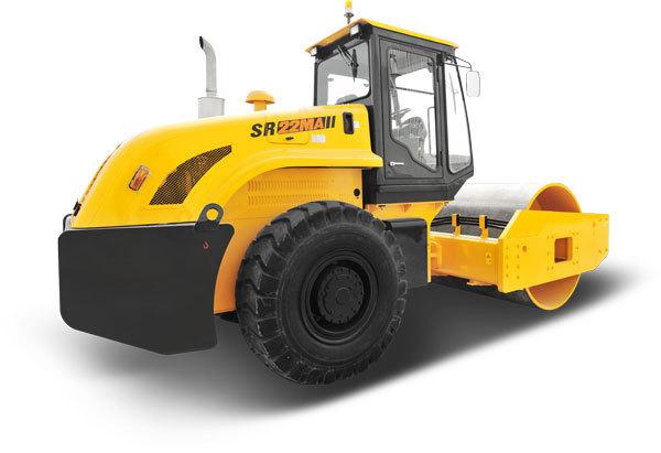 山推SR22MP机械振动单钢轮压路机