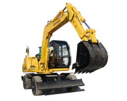 恒特HTL60轮胎式挖掘机