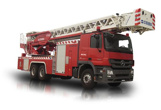 中联重科ZLJ5270JXFYT42型多功能云梯消防车