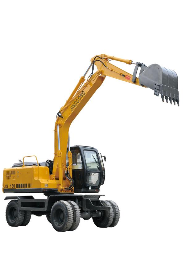 劲工JG130双驱轮式挖掘机高清图 - 外观