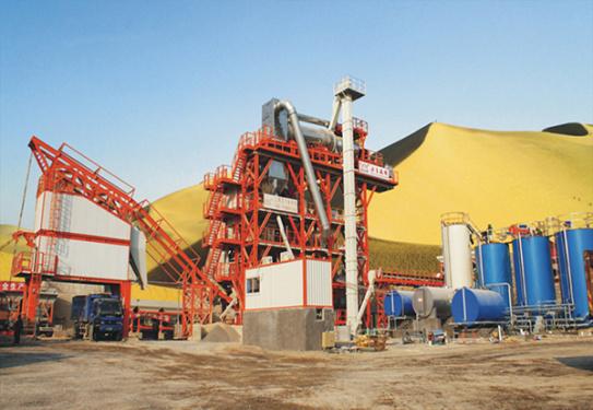 岳首RLZ240G高位滚筒型厂拌热再生设备