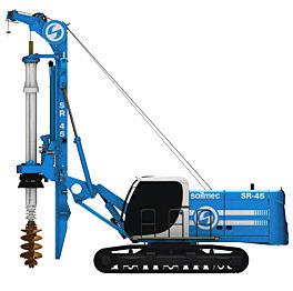 土力机械SR45LHR矮桅杆入岩旋挖钻机