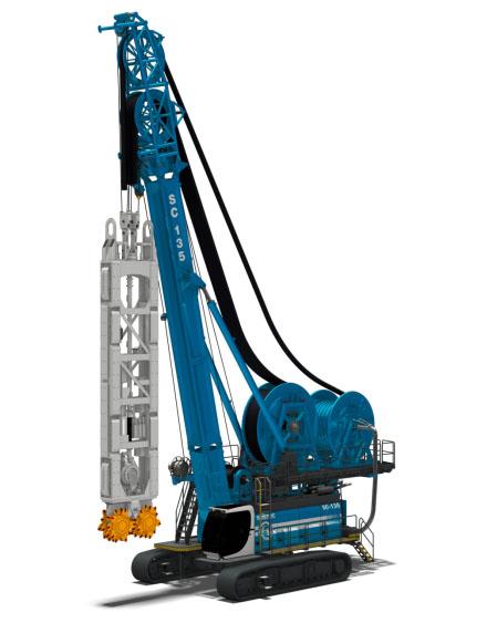 土力机械SC135卷管式铣槽机高清图 - 外观