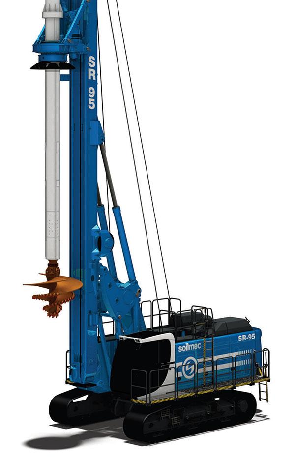 土力机械SR95HIT入岩旋挖钻机高清图 - 外观
