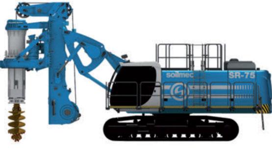 土力机械SR75LHR矮桅杆入岩旋挖钻机高清图 - 外观