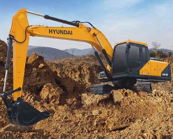 现代重工215LVS挖掘机