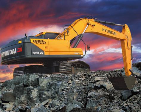 現代305LVS挖掘機