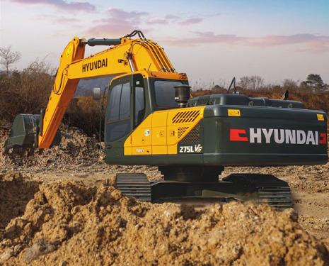 现代275LVS挖掘机高清图 - 外观