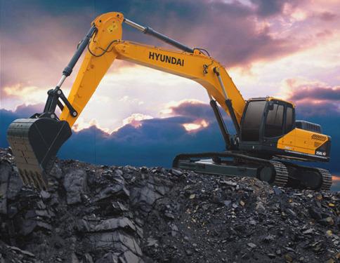 現代350LVS挖掘機