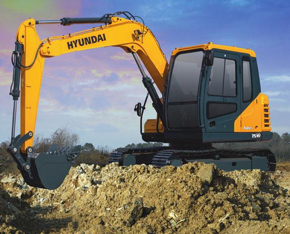 现代重工75VS挖掘机