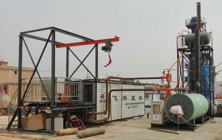 飞腾DLT-3桶装沥青脱桶融化设备