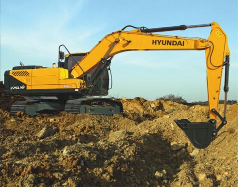 现代225LVS挖掘机