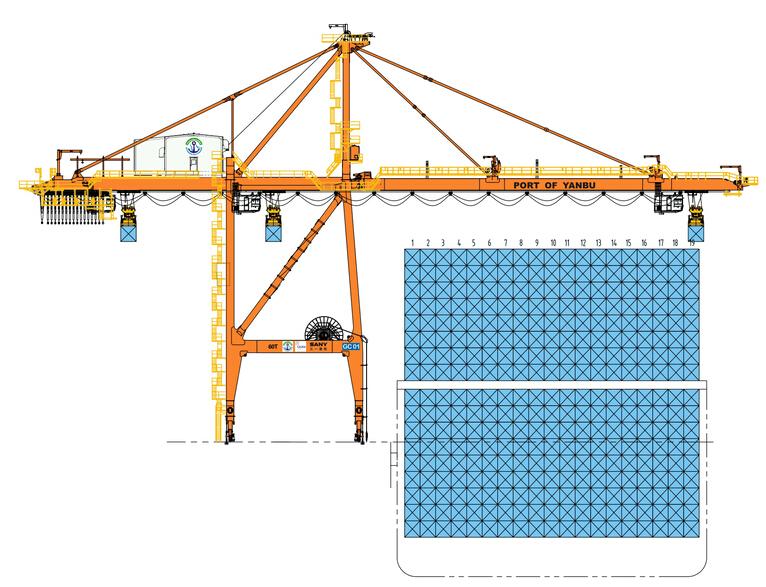 三一重工STS6001岸边集装箱起重机高清图 - 外观