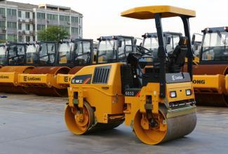 柳工CLG6032全柴单驱单振-小型养护双钢轮压路机高清图 - 外观