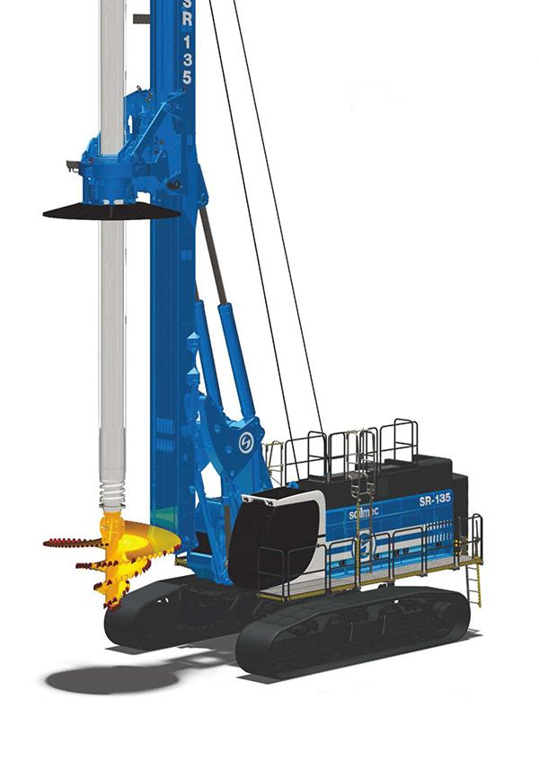 土力机械SR135HIT入岩旋挖钻机高清图 - 外观