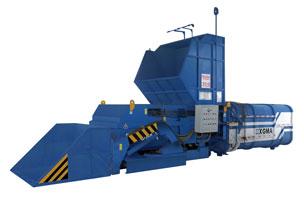 厦工LVZ100(水平式)垃圾压缩中转站高清图 - 外观