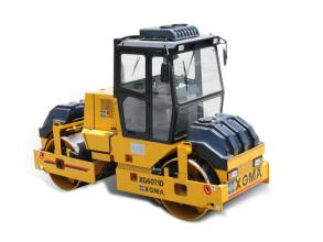厦工XG6071D双钢轮压路机高清图 - 外观