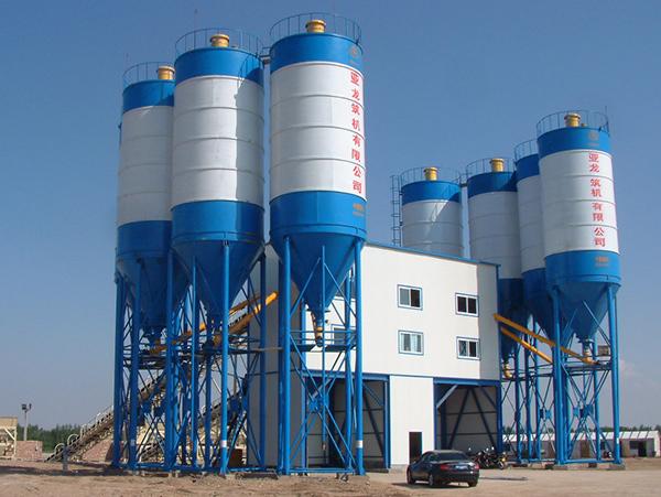 亚龙筑机HZS180水泥混凝土搅拌设备高清图 - 外观