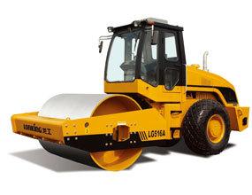 龙工LG516A机械驱动单钢轮压路机高清图 - 外观