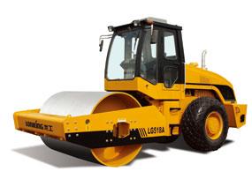 龙工LG518A6机械驱动单钢轮压路机高清图 - 外观
