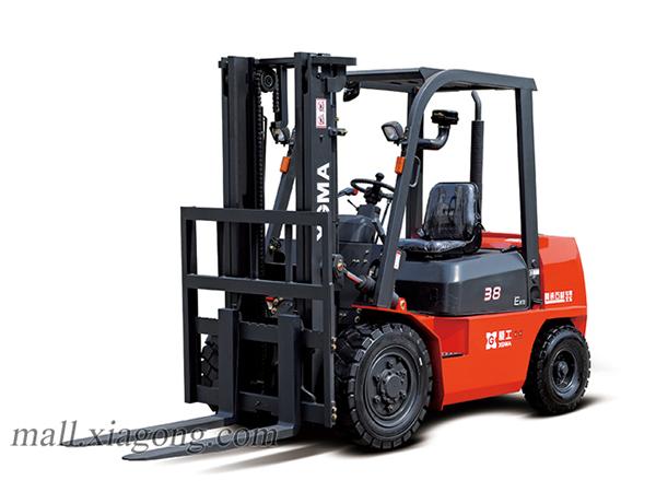厦工XG538-DT5内燃平衡重式叉车高清图 - 外观