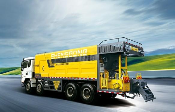 高远圣工HGY5311TFCSF智能加粘加纤稀浆封层车