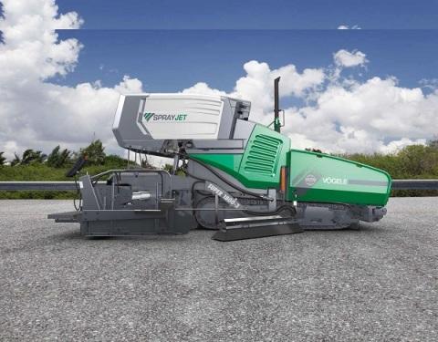 福格勒1800-3装备喷洒模块的超级沥青摊铺机