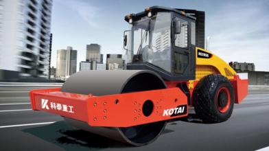 科泰重工KS105D单钢轮压路机(双驱)高清图 - 外观