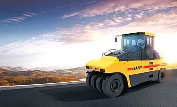 三一重工SPR300-5轮胎压路机