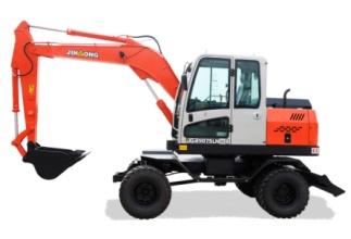 晋工JGM9075LN-8轮胎式多功能蔗木拾装机高清图 - 外观