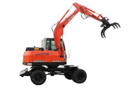 晋工JGM9075LNZ-8轮胎式多功能蔗木拾装机