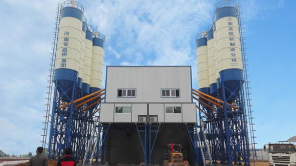 亚龙筑机HZS75水泥混凝土搅拌设备
