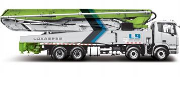 雷萨重机58米泵车高清图 - 外观