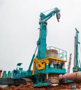 山河智能SWRC170自行式全回转全套管钻机