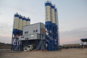 亚龙筑机HZS120水泥混凝土搅拌设备高清图 - 外观