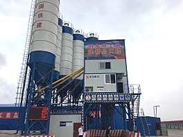 新筑HZS120普通水泥混凝土搅拌站