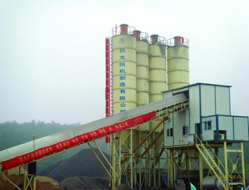 亚龙筑机HZS60水泥混凝土搅拌设备