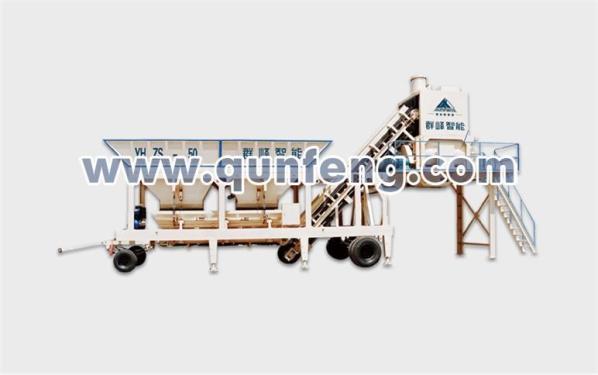 群峰机械YHZS50移动式混凝土搅拌站
